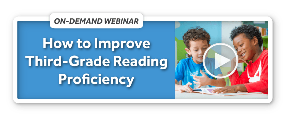 How to increase 3rd grade reading proficiency