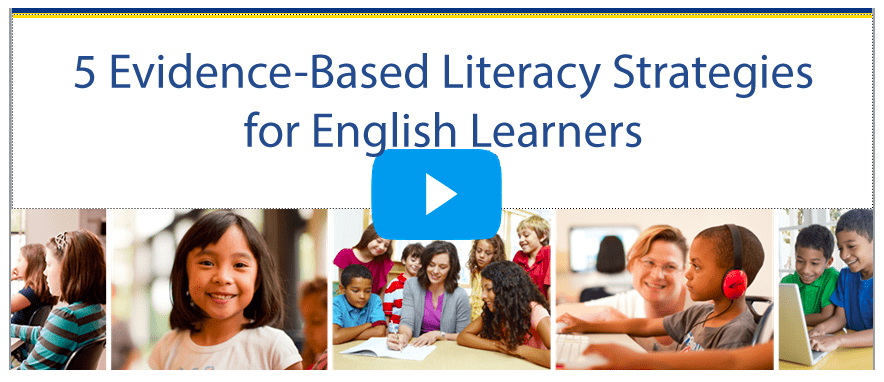 [Webinar] 5 Evidence-Based Strategies for English Learners